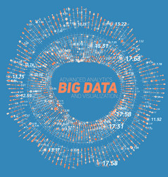 big data circular visualization vector image vector image