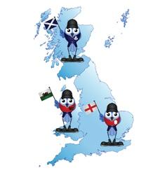 British Isle map vector image vector image