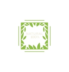 Double Frame With Leaves Inside Organic Product vector image vector image