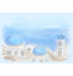 greece santorini vector image