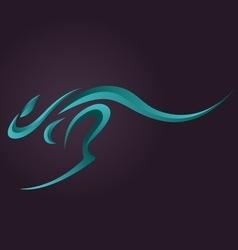 Kangaroo logo vector image vector image