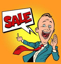 salesman businessman sale vector image