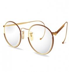 gold eye glasses vector image vector image