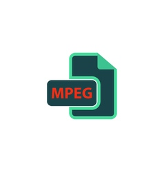 MPEG Icon vector image