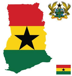 Republic of Ghana Flag vector image