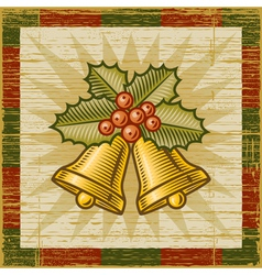 Retro Christmas bells vector image vector image