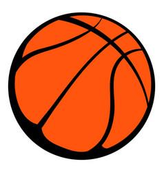 basketball ball icon icon cartoon vector image vector image