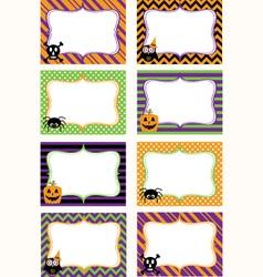 Halloween Printable labels Set vector image vector image