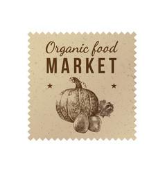 organic food market label vector image