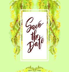 save the date wedding lettering vector image vector image