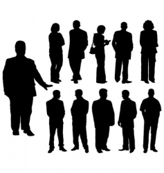 Silhouettes man and women vector vector