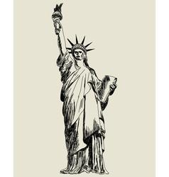 statue of liberty sketch vector image vector image