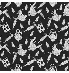 Tattoo machines pattern black vector