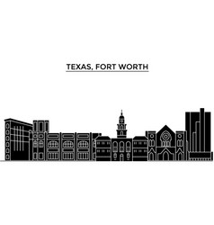 usa texas fort worth architecture city vector image