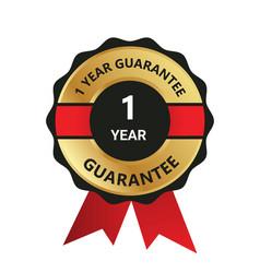 1 year guarantee badge guarantee certificate y vector