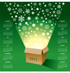2014 Christmas Box Calendar vector image