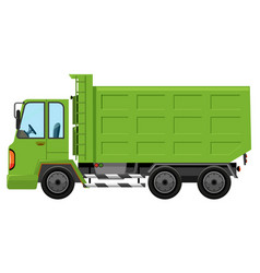 a trash truck on white background vector image