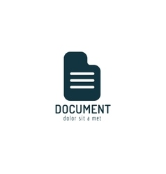 Abstract document paper sheet template logo icon vector