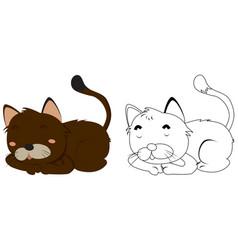 animal outline for kitten vector image