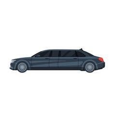 Black limousine car elegant premium luxurious vector