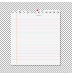 blank note paper on transparent background vector image