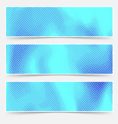 Blue color distressed dotted overlay card vector