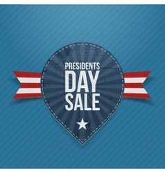 Blue Label with Presidents Day Sale Text vector image