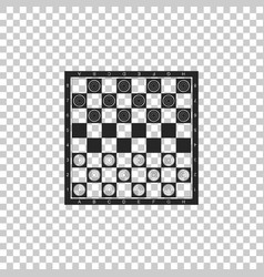 Board game checkers icon isolated vector