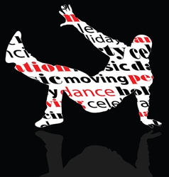 Break dance man with word vector