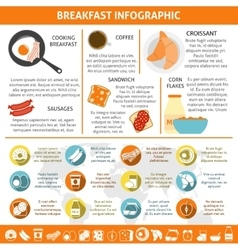 Breakfast Flat Color Infographic vector