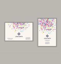 Business card with abstract letters design vector