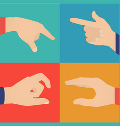 business hands action vector image
