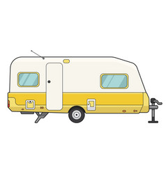 Camping trailer icon mobile motor auto for vector