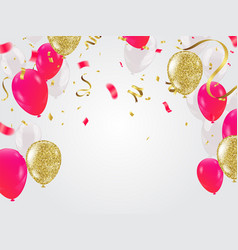 Celebration party banner with red and white vector