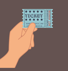 Cinema ticket entrance icon vector