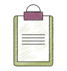 Clipboard document isolated icon vector
