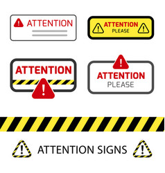 danger sign warning sign attention signs vector image