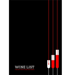 Design a wine list with wineglasses vector image