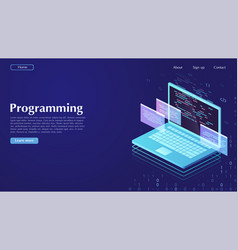 development and software concept of programming vector image
