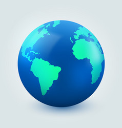 earth globe on white background internet vector image