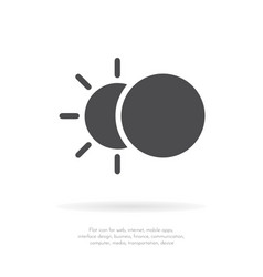 Eclipse icon flat design vector