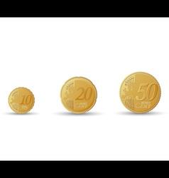 euro coins vector image