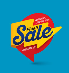 flash sale banner template special offer end of vector image