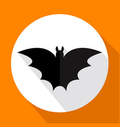 flat bat icon with long shadow vector image