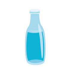 Glass bottle with water in vector