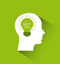 green idea concept vector image