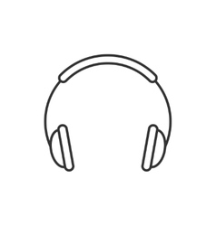 Headphones thin line icon vector