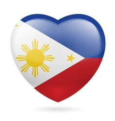 Heart icon of Philippines vector image