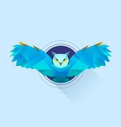 Hypnotic owl vector