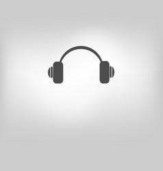 icon headphone call center vector image